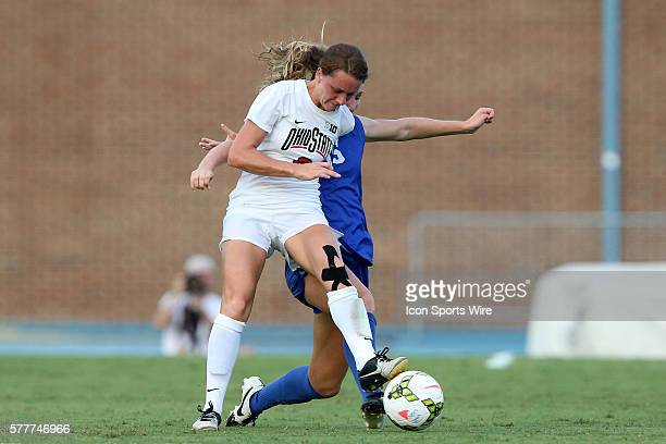 Ohio State's Kayla Varner and Duke's Kara Wilson The Duke University Blue Devils played The Ohio State University Buckeyes at Fetzer Field in Chapel...
