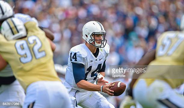 30 August 2014 Penn State Christian Hackenberg in action against University of Central Florida Croke Park Classic 2014 Penn State v University of...