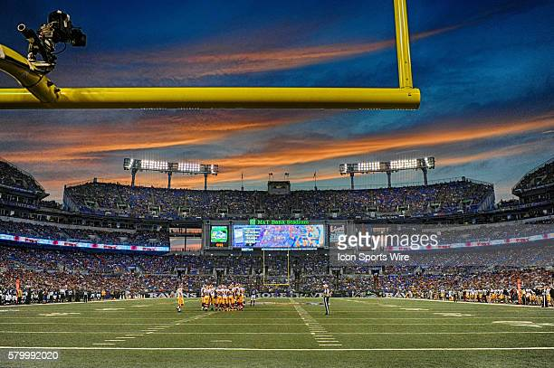 A 15 frame High Dynamic Range image of at MT Bank Stadium in Baltimore MD during the preseason game between the Washington Redskins and the Baltimore...