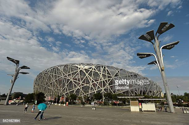 August 2015; A general view of the National Stadium ahead of the IAAF World Track & Field Championships in Beijing, China. Picture credit: Stephen...