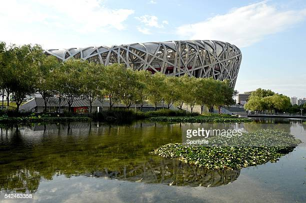 21 August 2015 A general view of the National Stadium ahead of the IAAF World Track Field Championships in Beijing China Picture credit Stephen...
