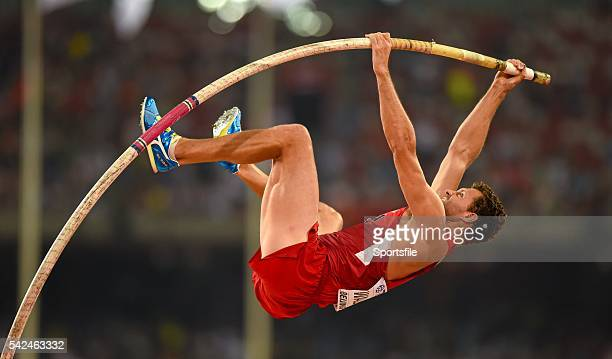 22 August 2015 Brad Walker of USA during the Men's Pole Vault qualification IAAF World Athletics Championships Beijing 2015 Day 1 National Stadium...