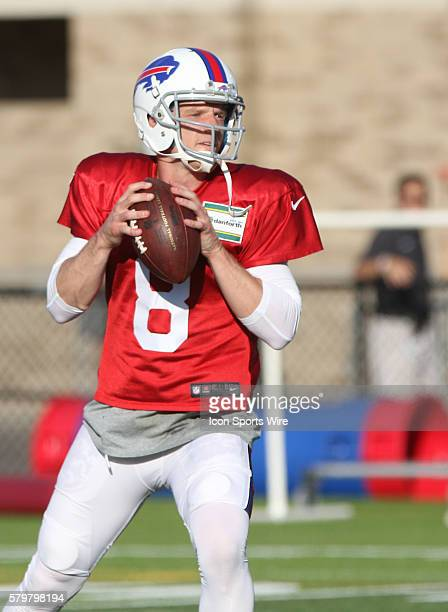 Buffalo Bills quarterback Matt Simms during the Buffalo Bills Training Camp at St John Fisher College in Pittsford New York
