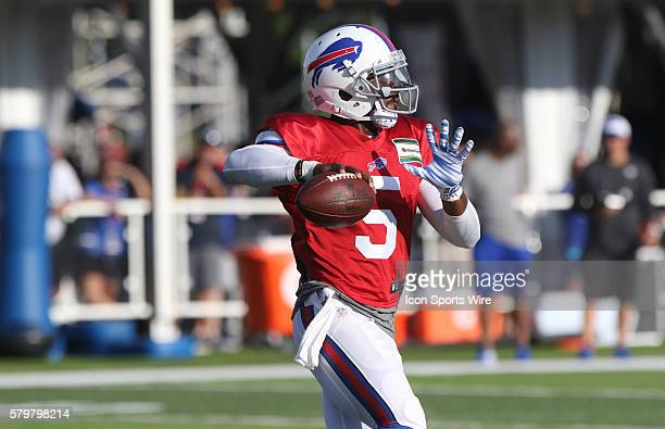 Buffalo Bills quarterback Tyrod Taylor during the Buffalo Bills Training Camp at St John Fisher College in Pittsford New York
