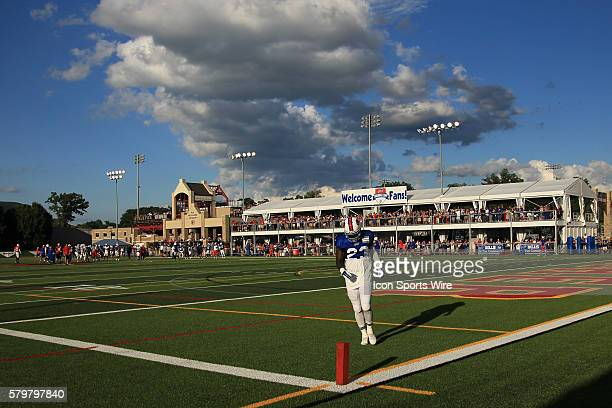 Buffalo Bills safety Aaron Williams in action during the Buffalo Bills Training Camp at St John Fisher College in Pittsford New York