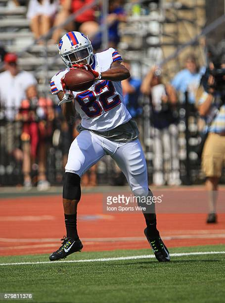 Buffalo Bills wide receiver Andre Davis in action during the Buffalo Bills Training Camp at St John Fisher College in Pittsford New York