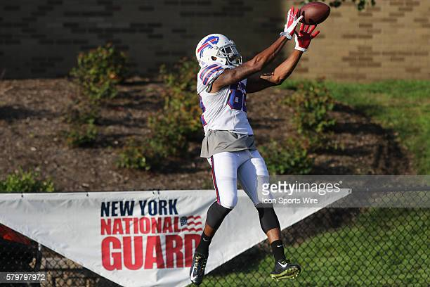 Buffalo Bills wide receiver Andre Davis makes a catch during the Buffalo Bills Training Camp at St John Fisher College in Pittsford New York
