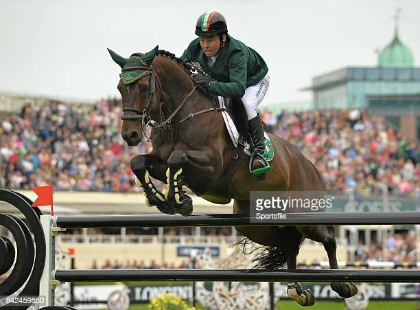 7 August 2015 Cian O'Connor Ireland competes on Good Luck in the Furusiyya FEI Nations Cup presented by Longines during the Discover Ireland Dublin...