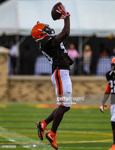 Cleveland Browns defensive back Charles Gaines in action during a joint practice between the Cleveland Browns and the Buffalo Bills at the Buffalo...