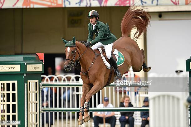 7 August 2015 Darragh Kenny Ireland competing on Sans Soucis Z in the Furusiyya FEI Nations Cup during the Discover Ireland Dublin Horse Show 2015...