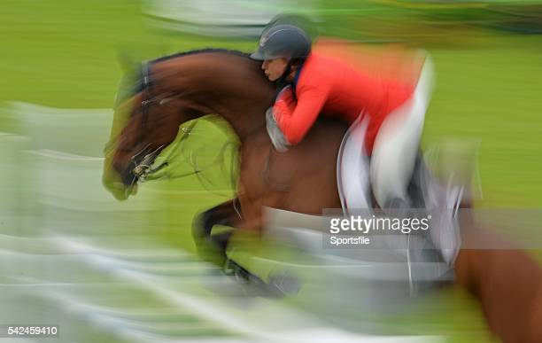 6 August 2015 Georgina Bloomberg USA competes on Washington Square in the Anglesea Stakes sponsored by The Ballsbridge Hotel during the Discover...