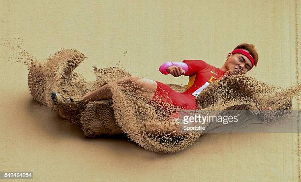 August 2015; Jinzhe Li of China in action during the Men's Long Jump qualification event. IAAF World Athletics Championships Beijing 2015 - Day 3,...