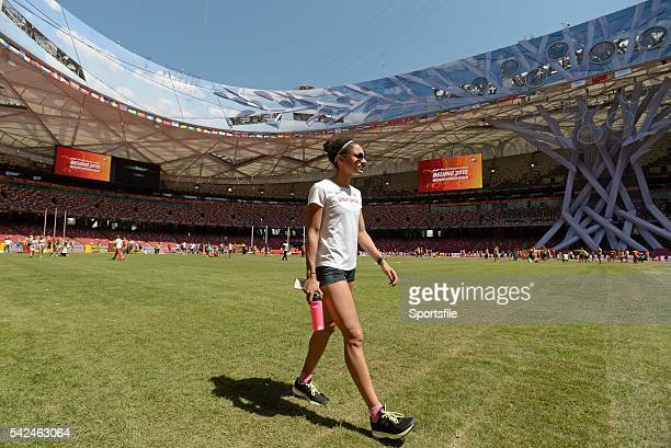 21 August 2015 Jodie Williams of Great Britain ahead of the IAAF World Track Field Championships at the National Stadium Beijing China Picture credit...