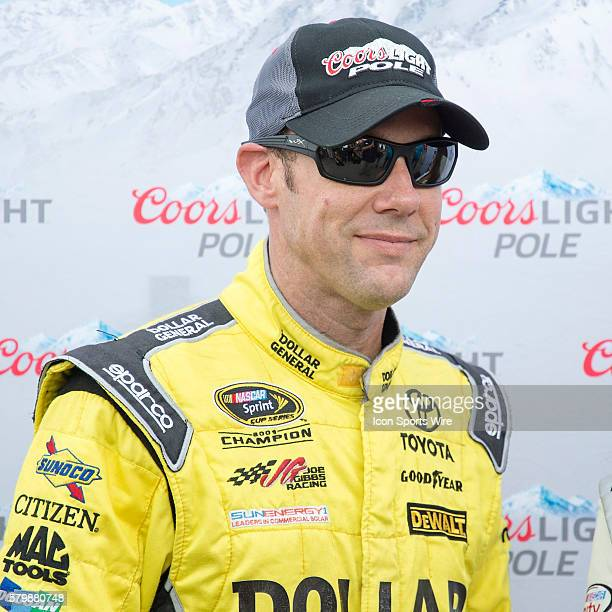 Matt Kenseth after winning the Pole at Michigan International Speedway in preparation of the Sprint Cup Series Pure Michigan 400 at the Michigan...