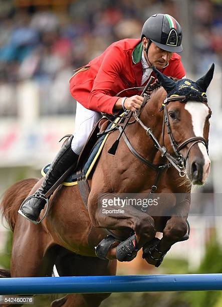 7 August 2015 Piergiorgio Bucci Italy competes on Casallo Z in the Furusiyya FEI Nations Cup during the Discover Ireland Dublin Horse Show 2015 RDS...