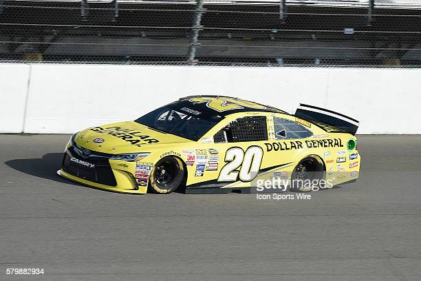 Pole winner Matt Kenseth during practice runs at Michigan International Speedway in preparation of the NASCAR Sprint Cup Series Pure Michigan 400 at...