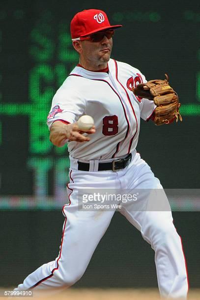 Washington Nationals second baseman Danny Espinosa in action against the Miami Marlins at Nationals Park in Washington DC where the Washington...
