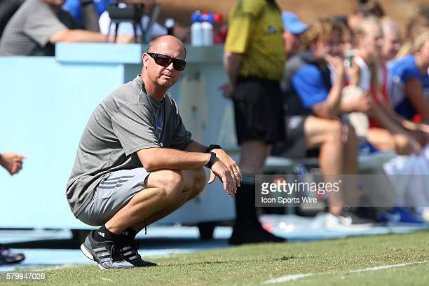 Weber State head coach Tim Crompton The Duke University Blue Devils played the Weber State University Wildcats at Fetzer Field in Chapel Hill NC in a...