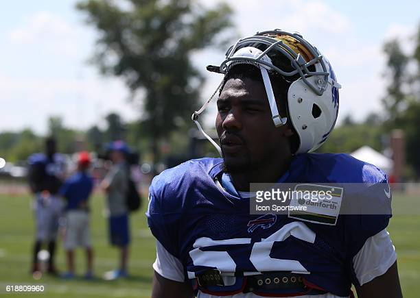 Buffalo Bills defensive end Jerry Hughes during the Buffalo Bills Training Camp practice at St John Fisher College in Pittsford New York