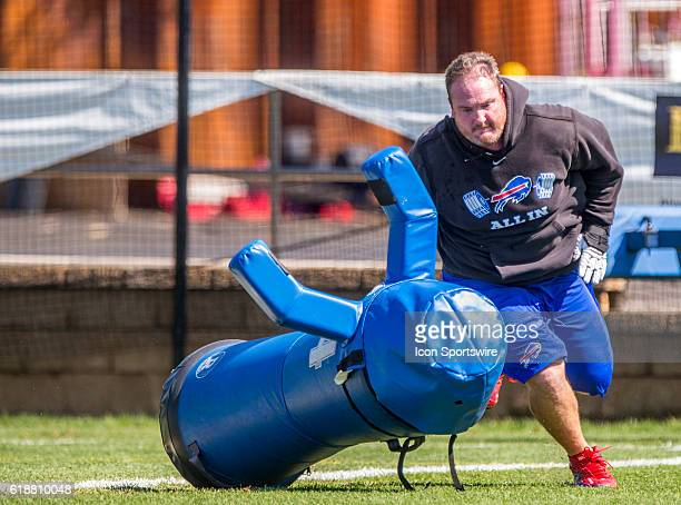 Buffalo Bills defensive tackle Kyle Williams in action during the Buffalo Bills Training Camp practice at St John Fisher College in Pittsford New York