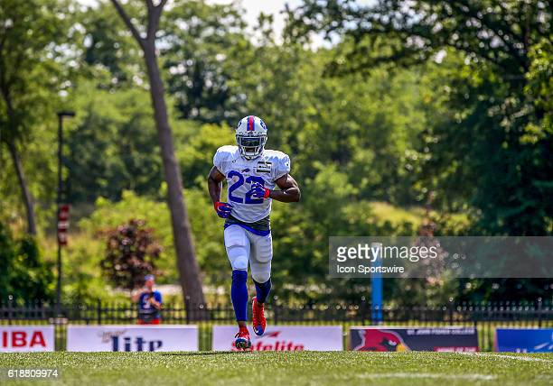 Buffalo Bills running back Reggie Bush in action during the Buffalo Bills Training Camp practice at St John Fisher College in Pittsford New York