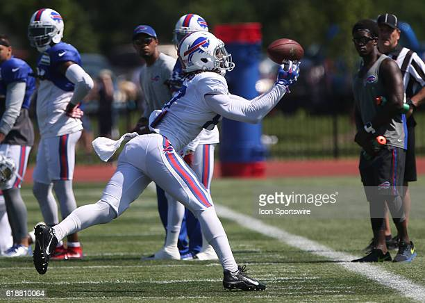 Buffalo Bills wide receiver Leonard Hankerson in action during the Buffalo Bills Training Camp practice at St John Fisher College in Pittsford New...