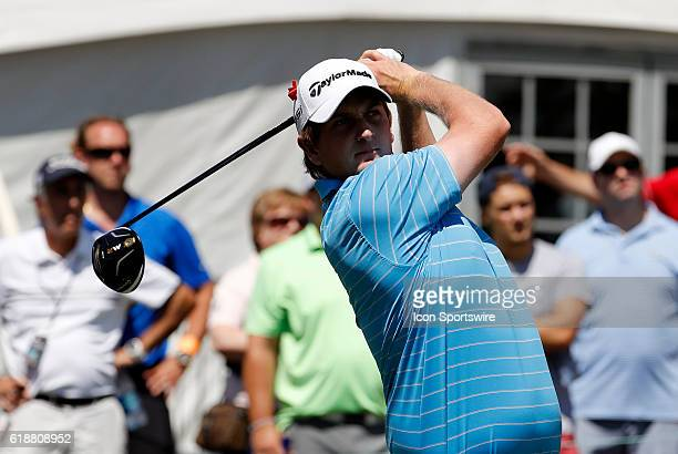 Henrik Norlander hits from the 1st tee during the first round of the 2016 Traveler's Championship at TPC River Highlands in Cromwell Connecticut