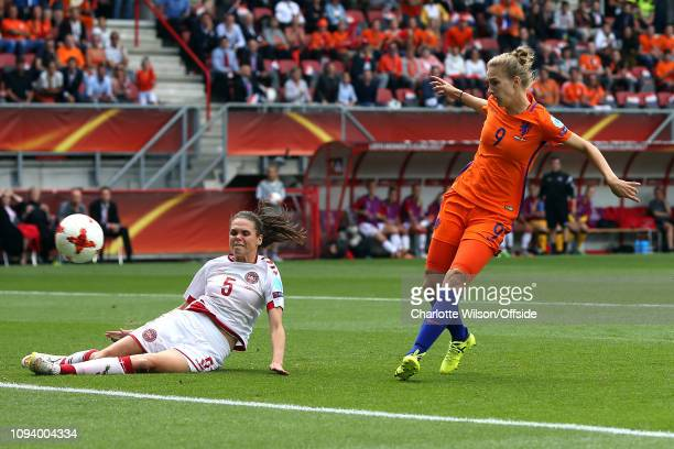 August 2017 - UEFA Womens EURO 2017 Final - Netherlands v Denmark - Vivianne Miedema of Netherlands Women scores their first goal - .