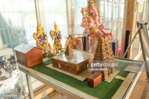 An altar is decorated by a member of the Hindu community Construction work on Europe's second largest Hindu temple is scheduled to begin this year...