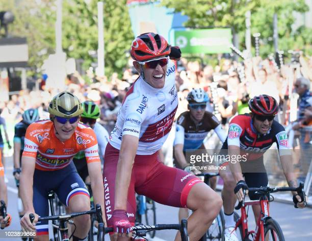 Cycling UCI European Series Germany Tour Lorsch Stuttgart Stage 4 Nils Politt from Germany from Team Katusha Alpecin celebrates the stage victory...