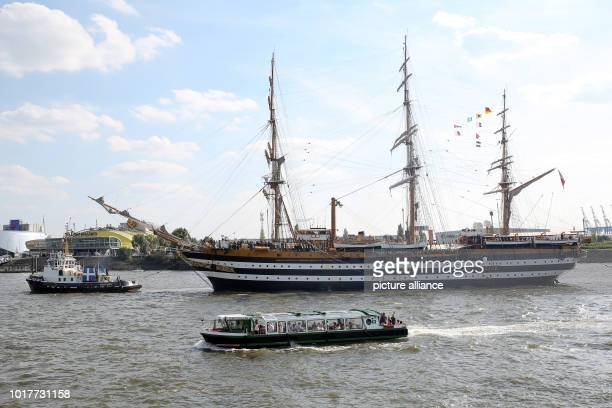 The Italian sailing training ship Amerigo Vespucci enters the harbour The legendary sailing training ship came with 326 soldiers and 100 cadets from...