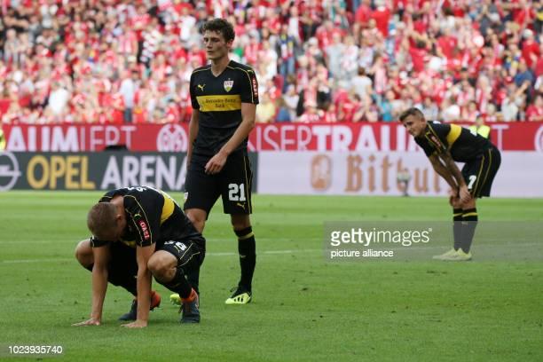Bundesliga FSV Mainz 05 vs VfB Stuttgart 1st matchday on in the Opel Arena Mainz Holger Badstuber Benjamin Pavard and Emiliano Insua Zapata from...