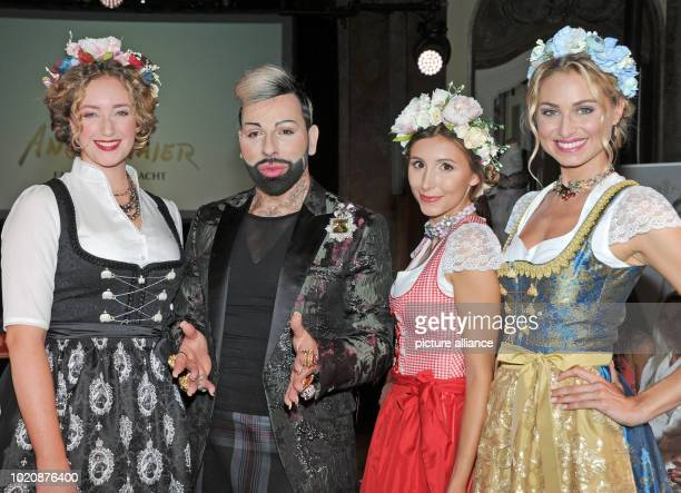 Designer Harald Gloockler presents his Dirndl collection designed for the traditional company Angermaier with models as part of a show Photo Ursula...