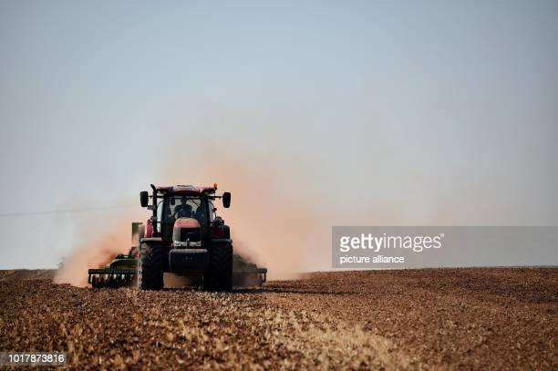 A farmer ploughs his field near Nordhausen raising a lot of dust The long drought of the last few weeks continues to bother farmers and there are...