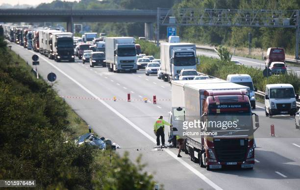 Trucks are on the A2 motorway in the direction of Hanover between PeineOst and Haemelerwald after a serious accident Two passengers of a small van...
