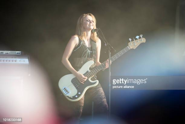 August 2018, Germany, Stoermthal: Charlotte Cooper, singer and bassist of the band The Subways will perform at the Highfield Festival 2018. About...