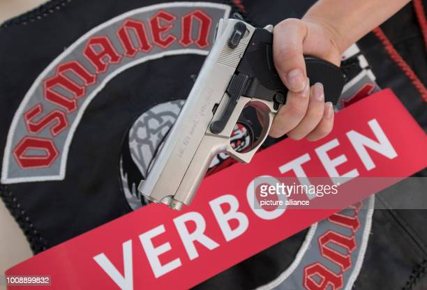 A leather habit of the now banned rockerlike group 'Osmanen Germania' has been provided with a red 'forbidden' banderole by the investigators of the...