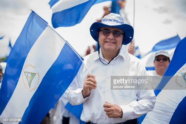 Ernesto Medina President of the American University of Managua participates in a demonstration in support of discharged doctors According to the...