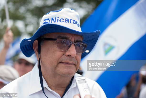 Ernesto Medina Rector of the American University of Managua participates in a demonstration in support of discharged doctors According to the...