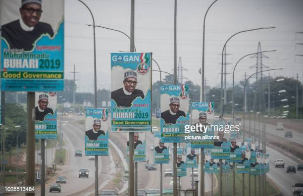 A poster promotes Muhammadu Buhari President of the Federal Republic of Nigeria Presidential elections in Nigeria are scheduled to take place again...
