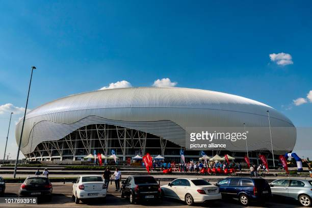soccer Europa League Qualifications Round 3 Return leg CS Universitatea Craiova vs RB Leipzig at IonOblemenco Stadium Exterior view of the...