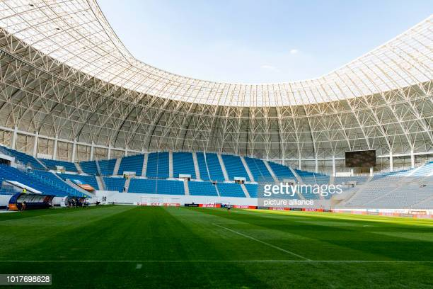Soccer Europa League Qualifications Round 3 Return leg CS Universitatea Craiova vs RB Leipzig at IonOblemenco Stadium Interior view of the...