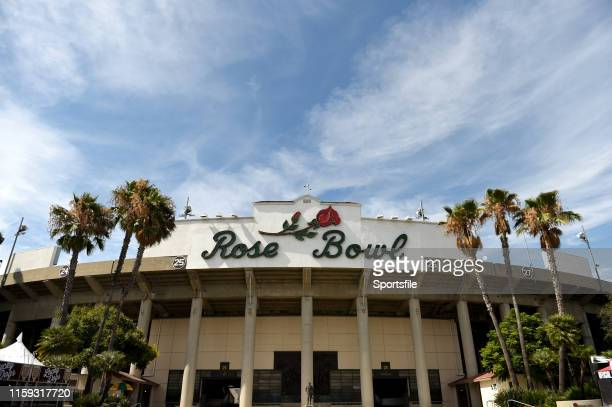 August 2019 A general view of the Rose Bowl prior to the Women's International Friendly match between USA and Republic of Ireland at Rose Bowl in...