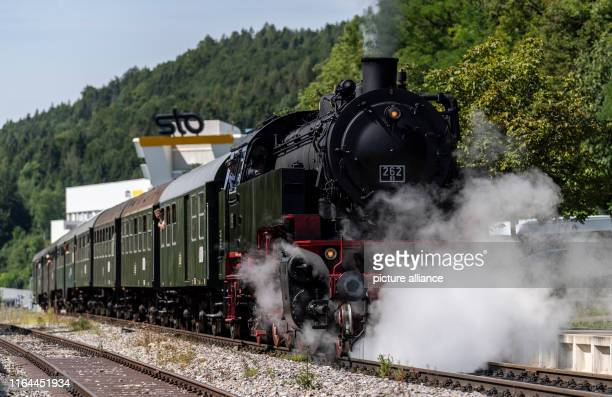 16 August 2019 BadenWuerttemberg Blumberg The Sauschwänzle Railway starts at the station in Weizen The historic railway with its steaming locomotives...