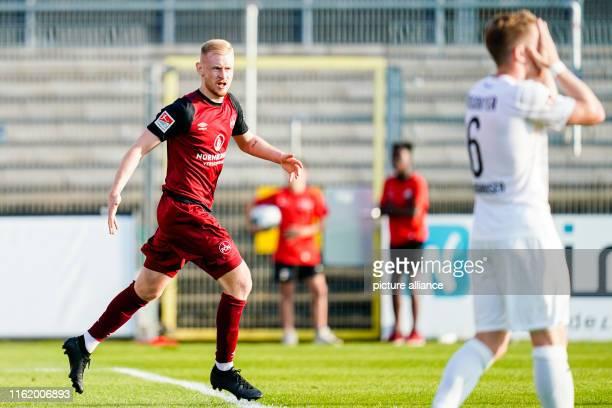 August 2019, Baden-Wuerttemberg, Sandhausen: Soccer: 2nd Bundesliga, SV Sandhausen - 1st FC Nuremberg, 3rd matchday, in the Hardtwaldstadion....
