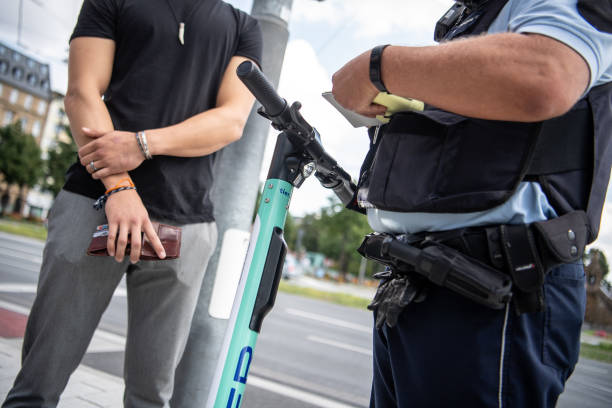 DEU: Police Check E-Scooter Drivers