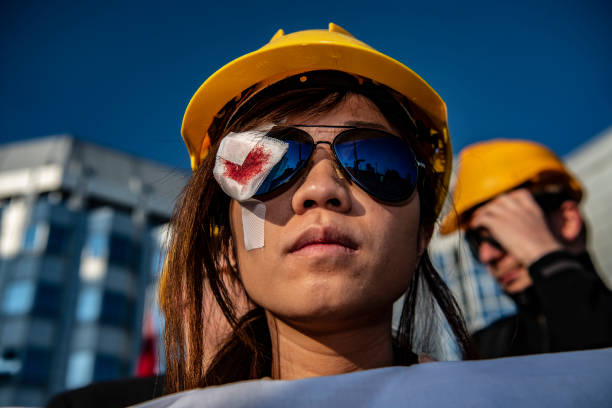 DEU: Protest In Front Of The Chinese Embassy