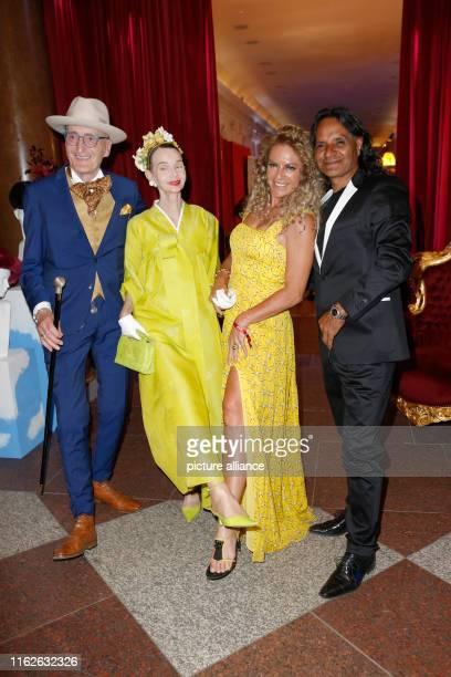 Günther Krabbenhöft Britt Kanja Christine Neubauer and Jose Campos at the Press Ball Berlin Summer Gala 2019 in the Great Orangery at Charlottenburg...