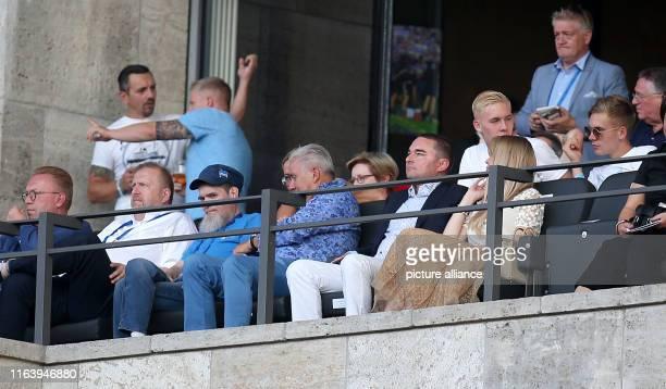 August 2019, Berlin: Soccer: Bundesliga, Hertha BSC - VfL Wolfsburg, 2nd matchday at the Olympiastadion Berlin. Hertha Investor Lars Windhorst...