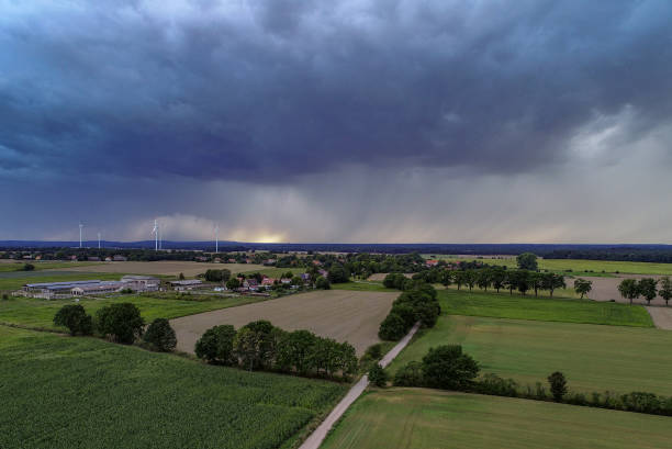 DEU: Rain Clouds Over Brandenburg